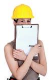 γυναίκες εργαζόμενος κατασκευής Στοκ Εικόνα