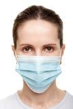 γυναίκες ιατρικής μασκών Στοκ Εικόνα