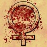 Γυναίκες κάτω από την επίθεση Grunge Στοκ εικόνες με δικαίωμα ελεύθερης χρήσης