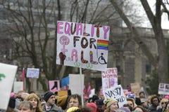 Γυναίκες Μάρτιος στο Τορόντο στοκ εικόνες