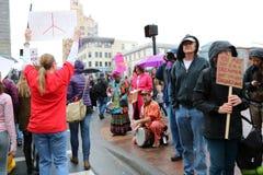 Γυναίκες Μάρτιος του Άσβιλλ NC Στοκ φωτογραφίες με δικαίωμα ελεύθερης χρήσης
