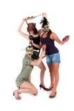 γυναίκες μασκών αποκριών Στοκ εικόνα με δικαίωμα ελεύθερης χρήσης