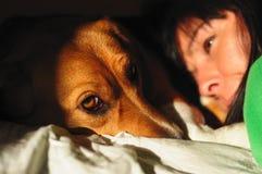 Γυναίκες με το σκυλί Στοκ φωτογραφίες με δικαίωμα ελεύθερης χρήσης