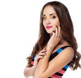 Γυναίκες με το φωτεινό makeup στοκ φωτογραφίες