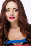 Γυναίκες με το φωτεινό makeup στοκ εικόνες