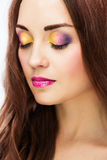 Γυναίκες με το φωτεινό makeup στοκ φωτογραφία