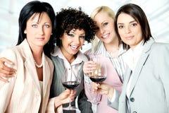 γυναίκες ομάδων εορτασ&m Στοκ Εικόνες