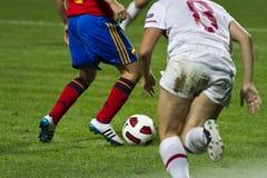 γυναίκες ποδοσφαίρου Στοκ Εικόνες