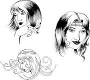 γυναίκες πορτρέτων απεικόνιση αποθεμάτων