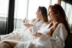 Γυναίκες που απολαμβάνουν το τσάι Στοκ Φωτογραφία