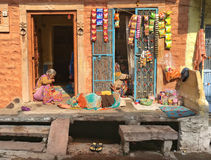 Γυναίκες που χαλαρώνουν στο Jodhpur, Ινδία Στοκ Φωτογραφίες