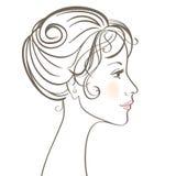 γυναίκες προσώπου ομορ& απεικόνιση αποθεμάτων