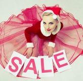 γυναίκες πώλησης Χριστο& Στοκ φωτογραφίες με δικαίωμα ελεύθερης χρήσης