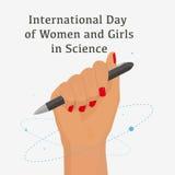 Γυναίκες στην επιστήμη διανυσματική απεικόνιση