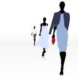 Γυναίκες στο διάδρομο Στοκ φωτογραφία με δικαίωμα ελεύθερης χρήσης
