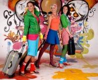 γυναίκες τοίχων γκράφιτι &k Στοκ Εικόνες