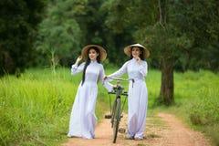 Γυναίκες του Βιετνάμ όμορφες Στοκ Εικόνες