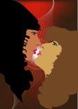 γυναίκες φιλιών Διανυσματική απεικόνιση