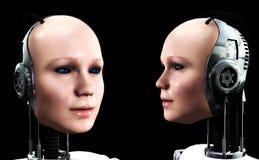 Γυναίκες 4 ρομπότ Στοκ εικόνες με δικαίωμα ελεύθερης χρήσης