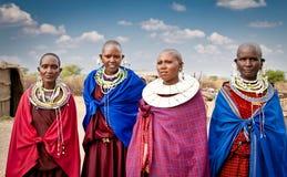Γυναίκες Masai με τις παραδοσιακές διακοσμήσεις, Τανζανία Στοκ εικόνες με δικαίωμα ελεύθερης χρήσης