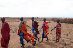 γυναίκες masai Στοκ φωτογραφίες με δικαίωμα ελεύθερης χρήσης