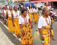 Γυναίκες Papuan στο πολιτιστικό φεστιβάλ Manokwari 2017 Στοκ Φωτογραφίες