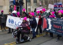 Γυναίκες ` s Μάρτιος στην Ουάσιγκτον στοκ φωτογραφίες
