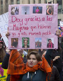 Γυναίκες ` s Μάρτιος στην Ουάσιγκτον στοκ φωτογραφία