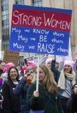 Γυναίκες ` s Μάρτιος στην Ουάσιγκτον στοκ φωτογραφία με δικαίωμα ελεύθερης χρήσης