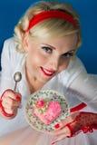 γυναίκες valentin καρδιών ημέρας κέικ Στοκ εικόνα με δικαίωμα ελεύθερης χρήσης