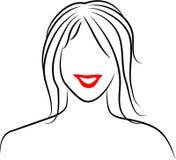 γυναικεία γραμμή διανυσματική απεικόνιση