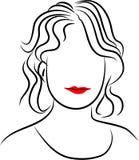 γυναικεία γραμμή ελεύθερη απεικόνιση δικαιώματος