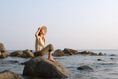 γυναικεία θάλασσα Στοκ φωτογραφίες με δικαίωμα ελεύθερης χρήσης