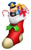 Γυναικεία κάλτσα Χριστουγέννων κινούμενων σχεδίων Στοκ Εικόνα