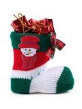 γυναικεία κάλτσα Χριστουγέννων Στοκ Φωτογραφία