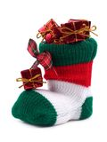 γυναικεία κάλτσα Χριστουγέννων Στοκ Εικόνες