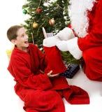 γυναικεία κάλτσα santa Χριστ&o Στοκ φωτογραφίες με δικαίωμα ελεύθερης χρήσης