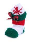 γυναικεία κάλτσα santa Στοκ εικόνες με δικαίωμα ελεύθερης χρήσης
