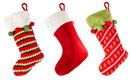 Γυναικεία κάλτσα Χριστουγέννων Στοκ εικόνα με δικαίωμα ελεύθερης χρήσης