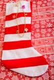 Γυναικεία κάλτσα Χριστουγέννων Στοκ φωτογραφία με δικαίωμα ελεύθερης χρήσης