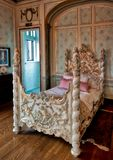 Γυναικεία κρεβατοκάμαρα σε Casa Loma Τορόντο Στοκ Εικόνες