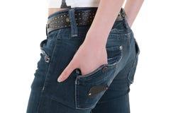 γυναικεία τσέπη χεριών Στοκ Εικόνες