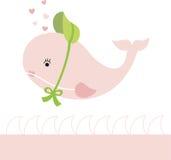 γυναικεία φάλαινα διανυσματική απεικόνιση