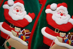 γυναικείες κάλτσες Χριστουγέννων Στοκ Εικόνα
