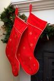 γυναικείες κάλτσες Χριστουγέννων Στοκ εικόνες με δικαίωμα ελεύθερης χρήσης
