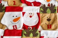 Γυναικείες κάλτσες Χριστουγέννων για τα δώρα Στοκ Εικόνα