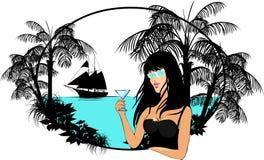 γυναικείοι φοίνικες κ&omicro Διανυσματική απεικόνιση