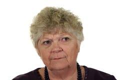 γυναικείος πρεσβύτερος σοβαρός Στοκ φωτογραφία με δικαίωμα ελεύθερης χρήσης