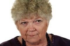γυναικείος πρεσβύτερος σοβαρός Στοκ Φωτογραφία