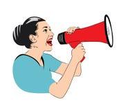 Γυναικείος τραγουδιστής  διάνυσμα Στοκ φωτογραφία με δικαίωμα ελεύθερης χρήσης
